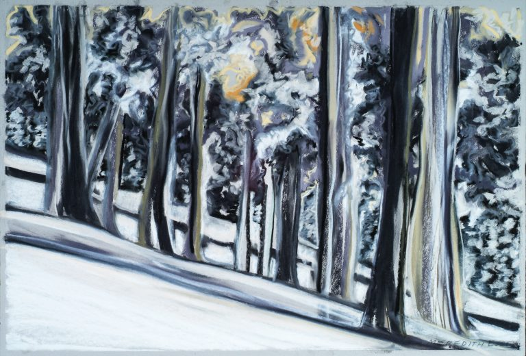 Tree Line 21x27, pastel on paper