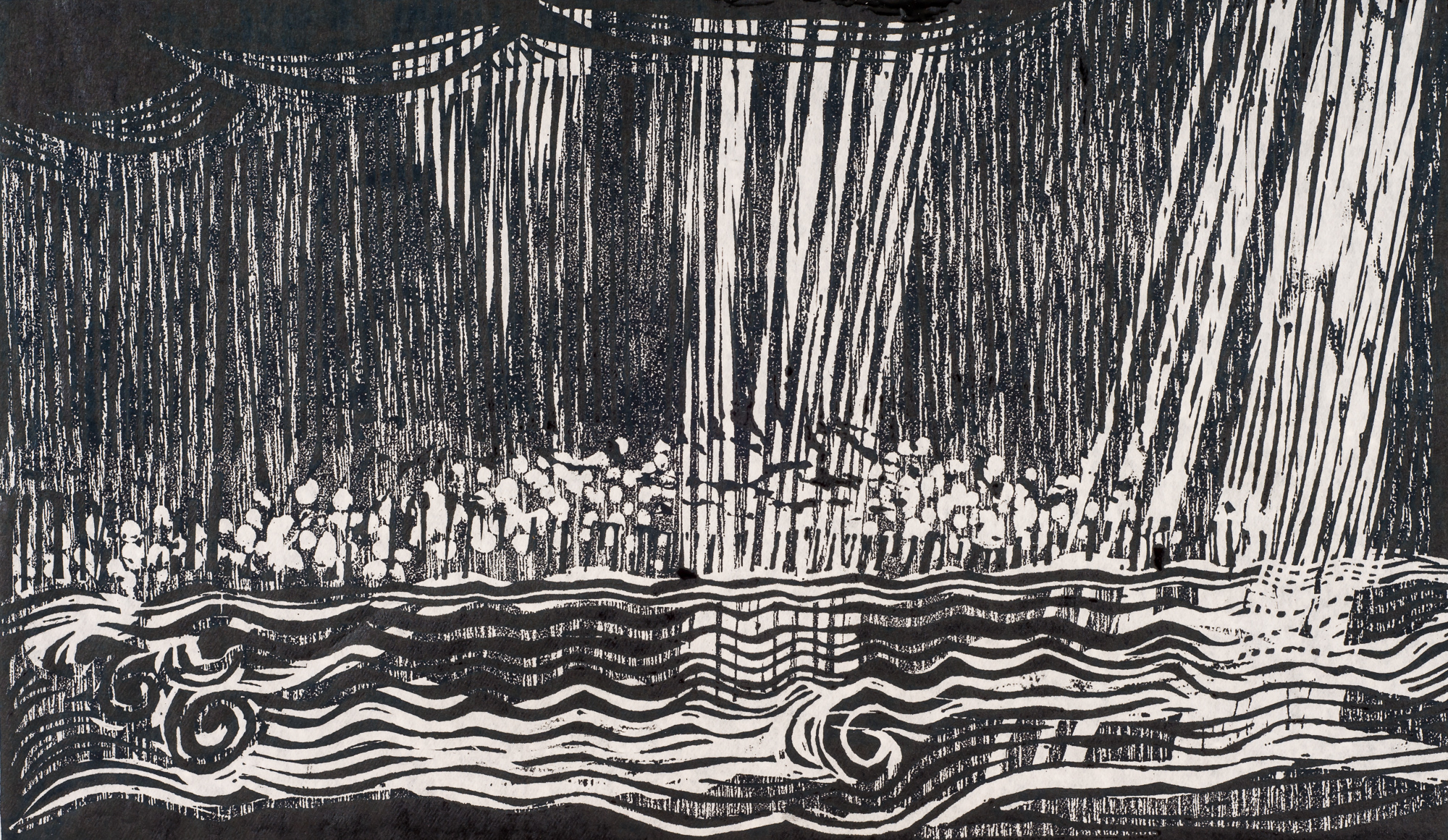 Rain on the River 8¾x15, 1994