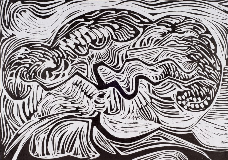 Tree in the Wind 13¾x19½, 1964