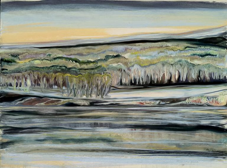 Silver River 30x36, pastel on paper
