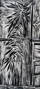 Bamboo Window, 24 ¼ x 11 3/8, 1959