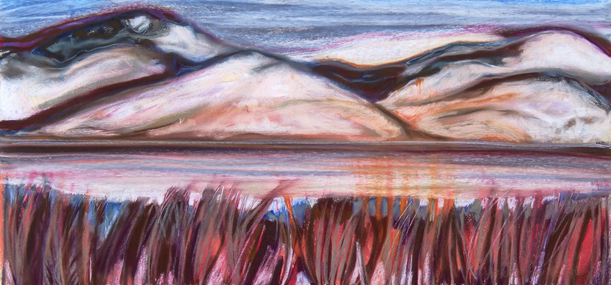 Chelan 22x30, pastel on paper
