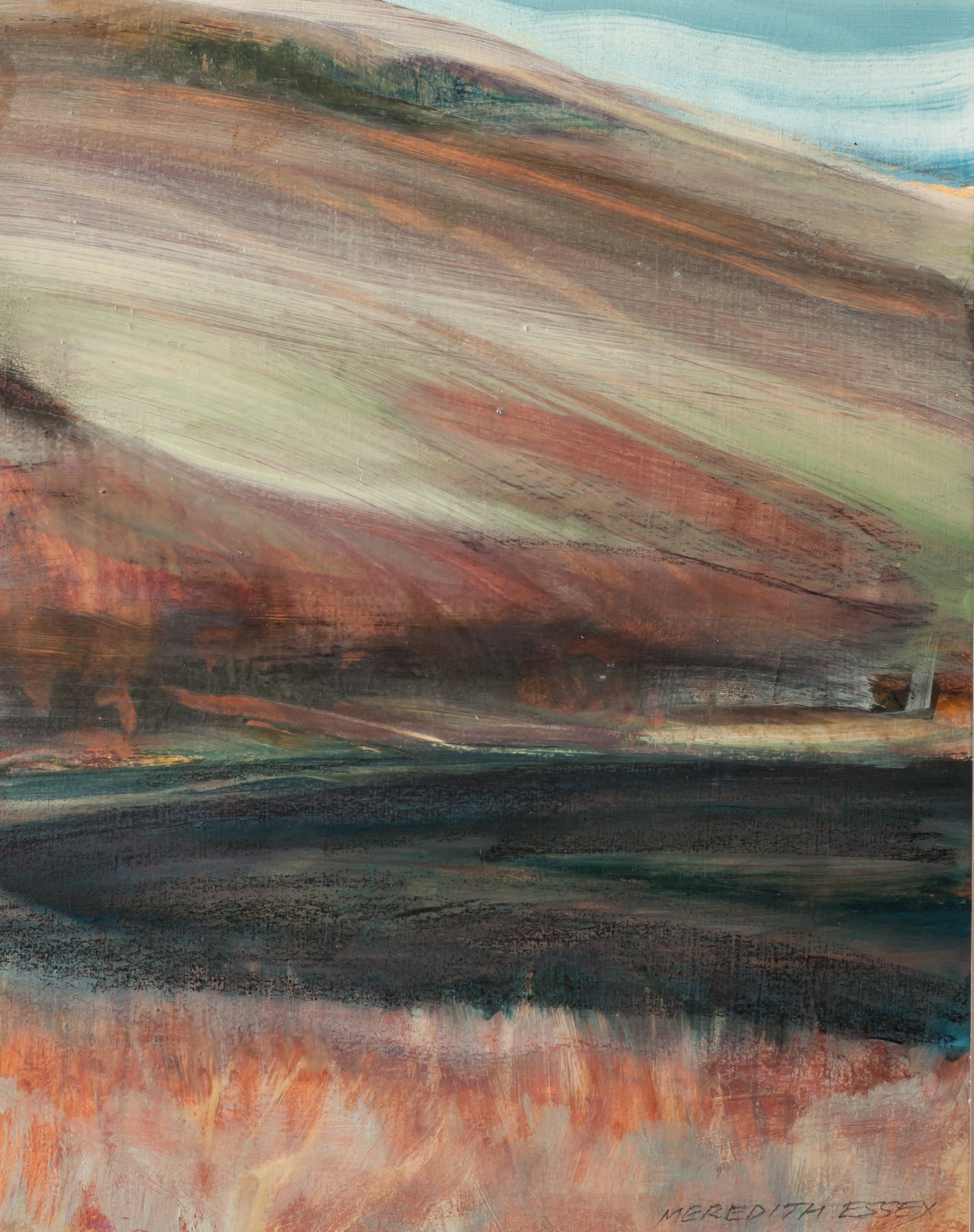 The Empty Hill 9½x7½, oil on panel