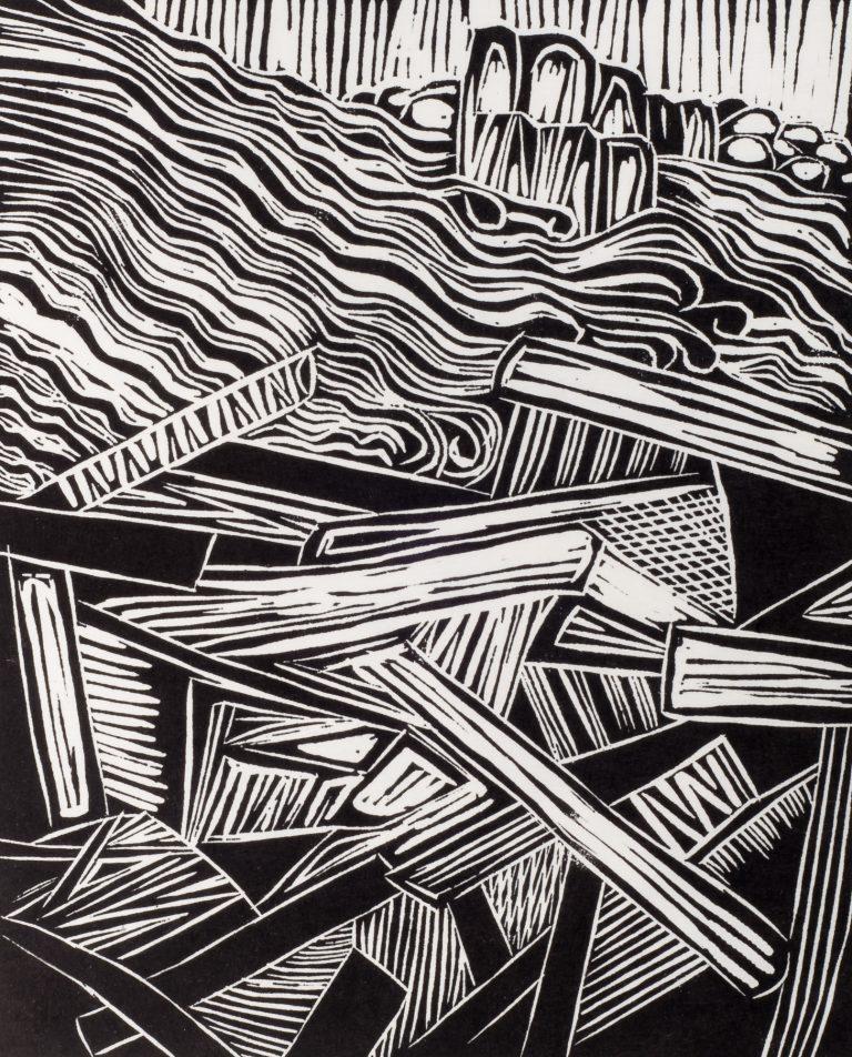 Log Jam 11½x9½, 1994