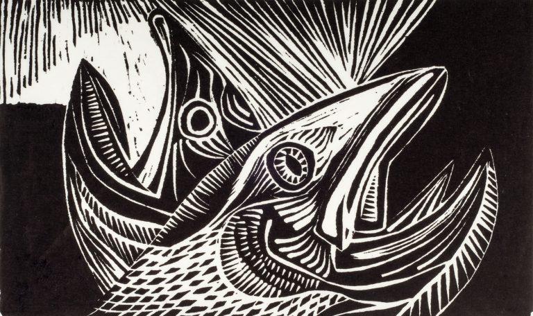 Dying Salmon 8⅜x14, 1954