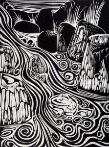 Cascade | 21 1/2 x 15 | 1960