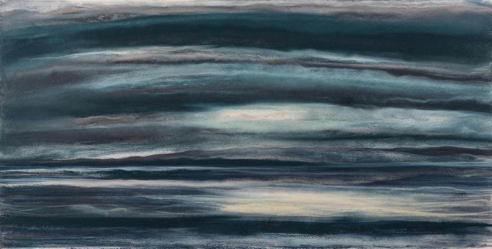 Straits 15½x29½, pastel on paper