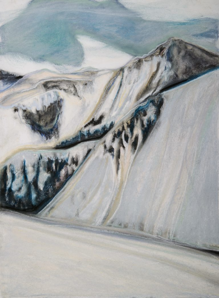 Slope 15x22, pastel on paper