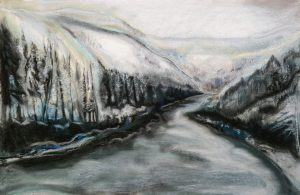 Creek in Winter | 22x16.5