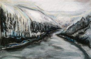 Creek in Winter | 22x16.5