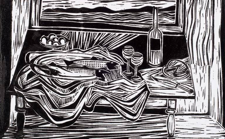 Fish and Net 7¾x12, 1952