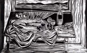 Fish and Net, 7 ¾ x 12, 1952