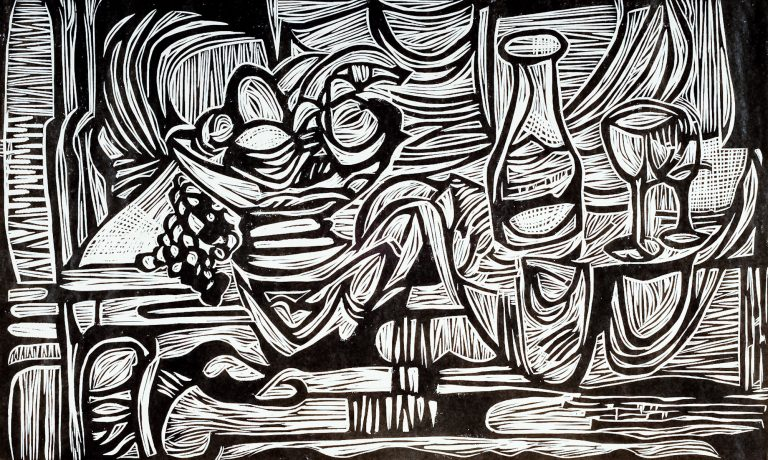 On a Chinese Table 12¾ x21, 1989