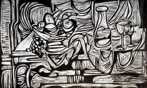 On a Chinese Table, 12 ¾ x 21, 1989