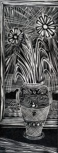 Ribbon Grass and Daisies, 14 x 5 ½, 1994