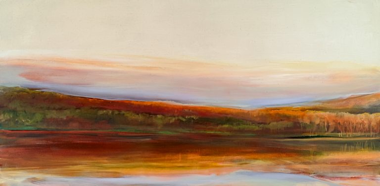 Red Water 12x24, oil on paper