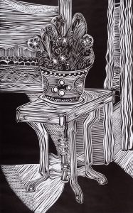 That Victorian Table, 23 ¼ x 14 ½, 1994