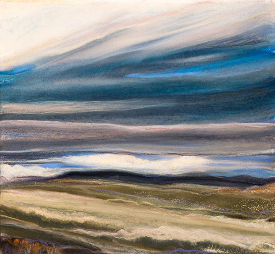 Across Our Fields 11½x11½, pastel on paper