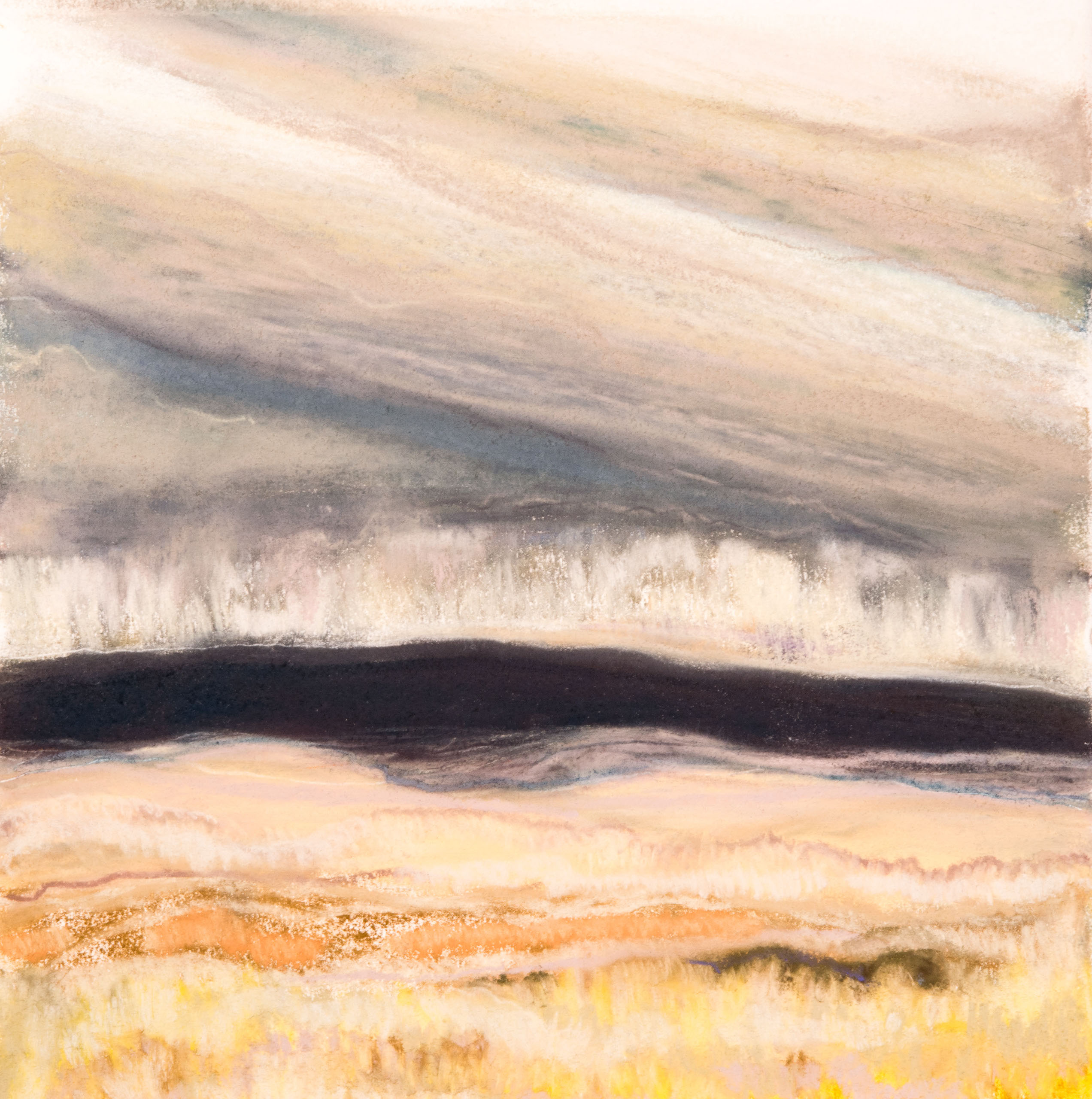 Rain in Dry Country 11½x11½, pastel on paper