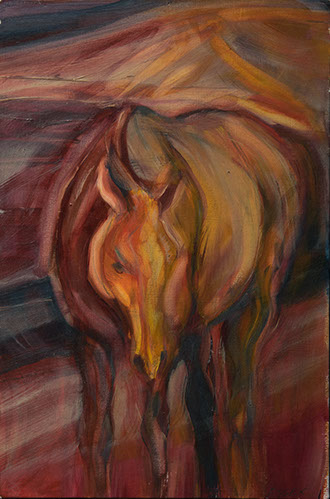 Hell Horse 11½x8, oil on panel