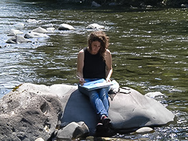 meredith at sol duc river