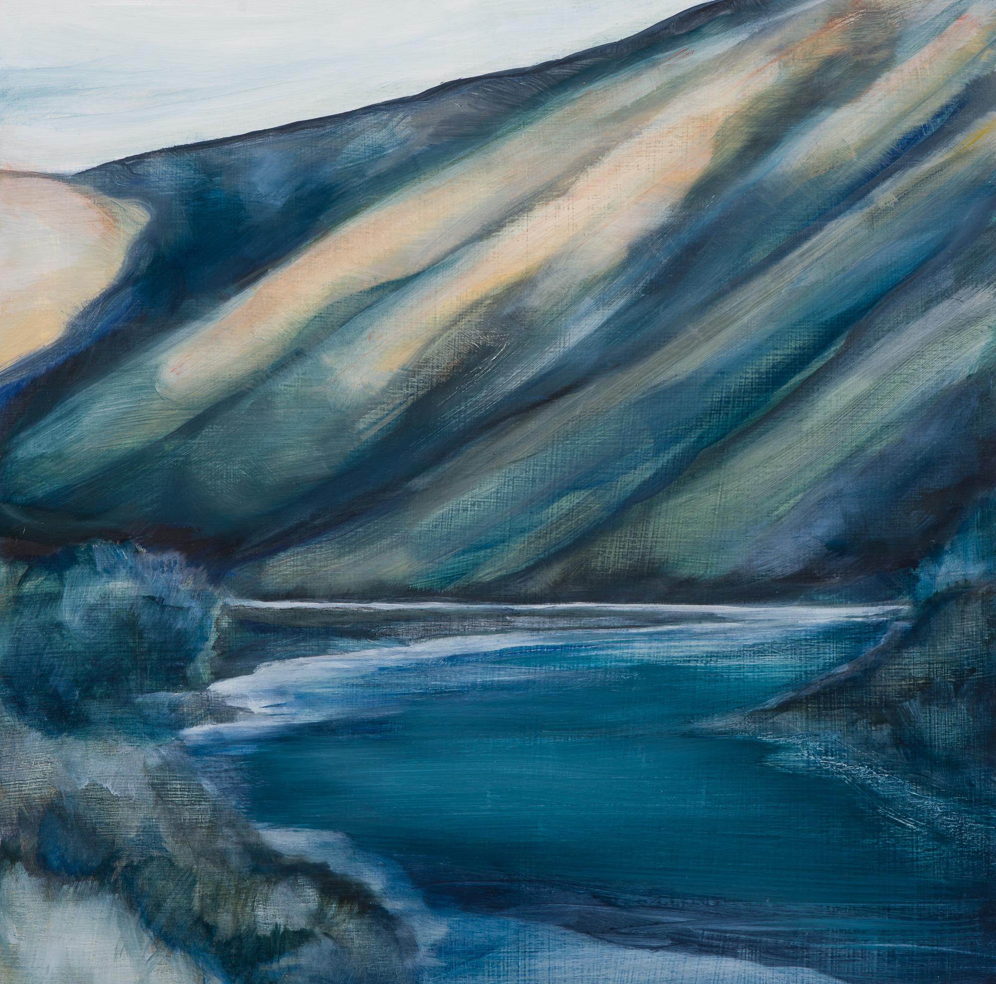 Last River, 8x8, oil on panel